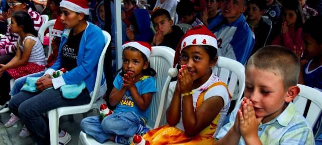 Descripción: Novena de navidad con los niños de Sajonia.