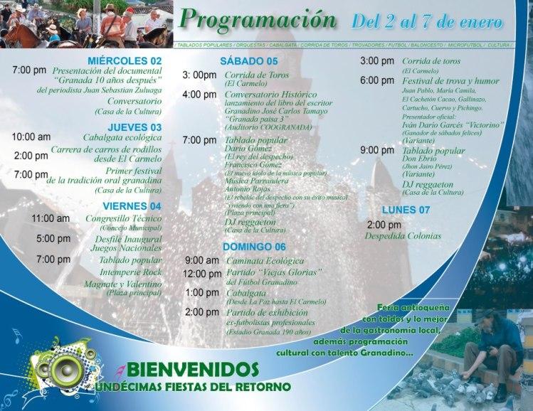 PROGRAMACIÓN FIESTAS DE GRANADA 2013
