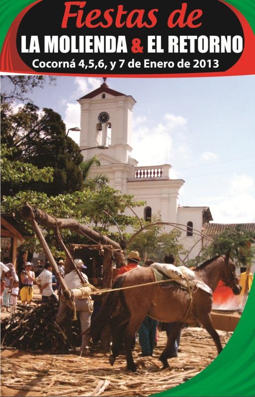 programacion fiestas de la molienda y el retorno 2013 COCORNA