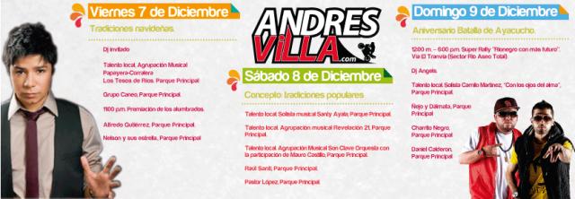 PROGRAMACION FIESTAS DE RIONEGRO 2012 II