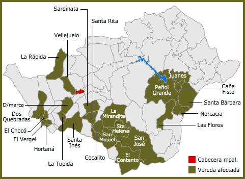 MAPA VEREDAS DE SAN CARLOS