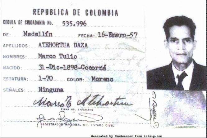 MARCO TULIO ATEHORTUA DAZA HOMBRE MAS VIEJO DE COLOMBIA